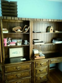 Office desk and book shelves. No scammers. Overland Park, 66204