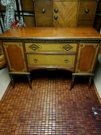 Antique buffet and matching cabinet, EUC cabinet d McDonald, 44437
