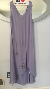 purple scoop neck sleeveless slit hem dress Silver Spring, 20904
