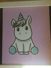 Unicorn framed canvas White Rock, V4B