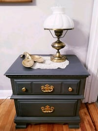 Slate Nightstand, Gold Accents Westbrook, 04092