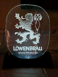 Vintage 1970's Lowenbrau Table Top Beer Sign - Illuminated  / Electric Martinsburg, 25405