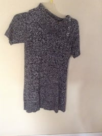 Women's black and gray floral dress