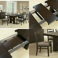 brown wooden table with chairs 2055 mi