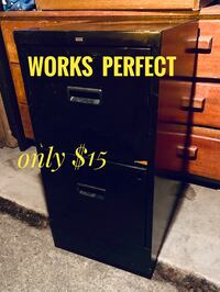 Black Filing cabinet - sturdy - clean - two drawers open and close easily Tacoma, 98408