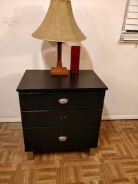 Black night stand in very good condition, all draw Annandale, 22003