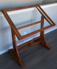 Locally made, glass top drafting table Calgary, T2E 1J9
