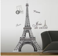 Large wall decal of the Eiffel Tower New York, 10005