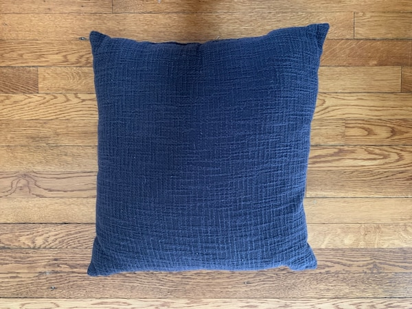 Set of 2 Navy Throw Pillows