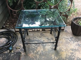 Metal and glass end tables