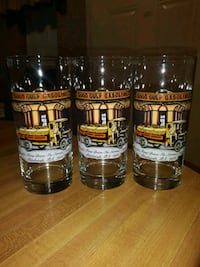 (3) Vintage(40's) Gulf Collector's Glasses Lot(2)