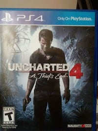 Uncharted 4 PS4 game case Lubbock, 79415