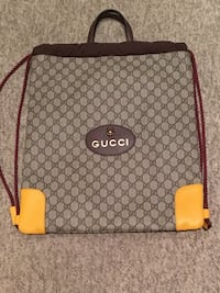 Authentic Gucci Supreme Drawstring Back Pack Vaughan, L6A 3S1