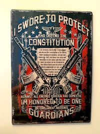2nd Amendment Decor Wall Plaque