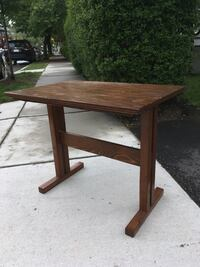 Mission style wooden entry way table