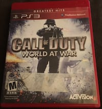 PS3 call of duty world at war Chattanooga, 37411
