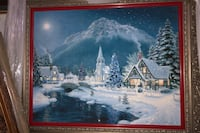 Christmas painting by Richard burns 2002 Levittown, 19057