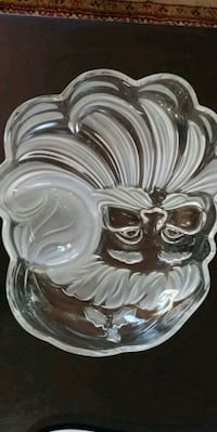 Crystal Santa snack tray Sterling, 20164