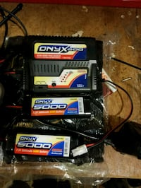 RC charger and batteries