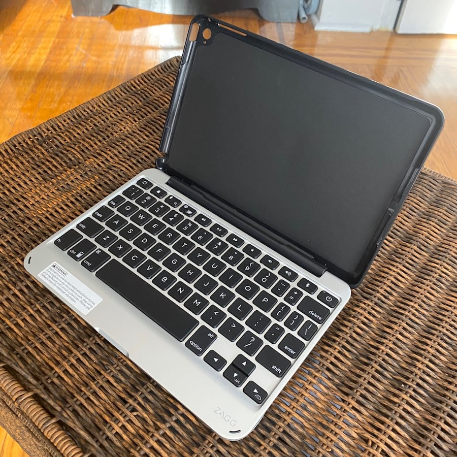 Zagg Slim Book Bluetooth Keyboard and Case (Detachable) w/ power cord
