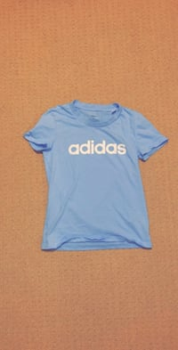 Womens baby blue adidas t shirt