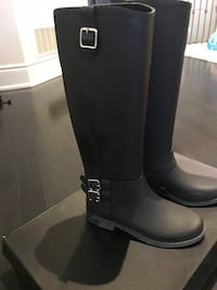 INC rain black boots in size 9 - selling for $35 Brampton, L6R