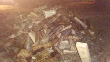 Truck bed full of firewood