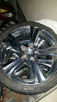 used 18 boss rims with low profile tires for sale in london letgo. Black Bedroom Furniture Sets. Home Design Ideas