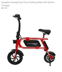 Red and black razor kick scooter