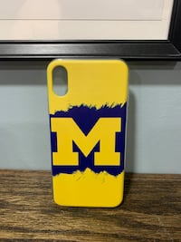 Michigan Wolverines iPhone XS Rubber Case
