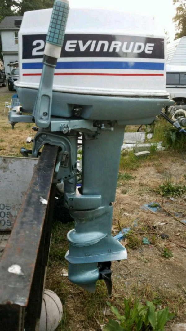 Evinrude 25 Hp >> Evinrude 25hp Long Shaft Outboard