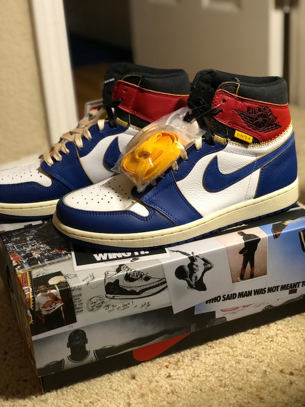b2b06ad3e55 Jordan 1 Retro High Union Los Angeles Blue Toe