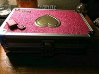 Beautiful pink glitter VAULT lock box with Lock