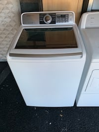 White and gray samsung top-load clothes washer 317 mi