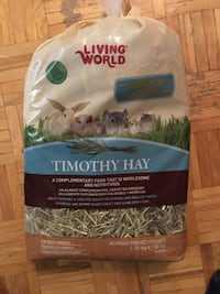 Timothy hay for small animals 3 lbs bag $5 Mississauga, L5A 1A8