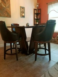 Pub style dining set with 4 swivel chairs.  Valley Springs, 95252