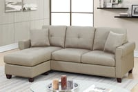 Leta Beige PolyFiber Sectional** FREE DELIVERY** FINANCING AVAILABLE