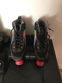 black-and-red inline skates Vancouver, V6P