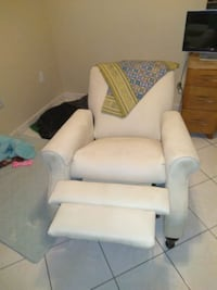white leather padded glider chair Miami, 33182
