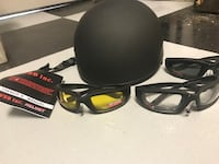 WSB inc. motorcycle helmet and glasses Brentwood, 94513