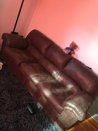 Sofa with pull out bed & love seat