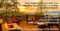 Becks fences landscaping frame basements service business card London, N6H