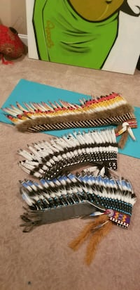 100% Real Feathered Indian War Bonnet Headdresses. Burnaby, V5J 4G3