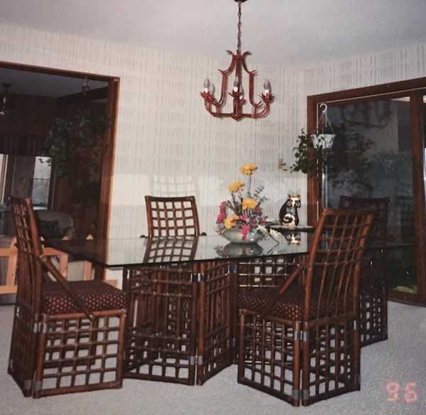 Used Brown Wooden Dining Table Set From The Art Shoppe For Sale In Barrie