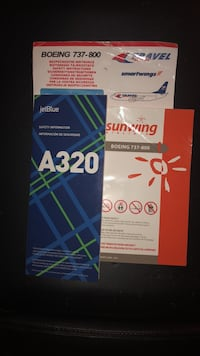 3 airplane safety cards  Hamilton, L8R 1V3