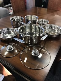 8pc Silver Cookware Set