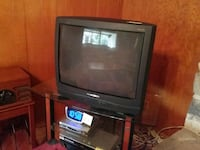 black CRT TV with TV stand Van Nuys, 91401