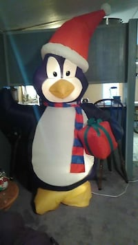 Blow up christmas penguin