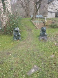 two black and brown  concrete bears 150 dollars cs Harrison County, 26431