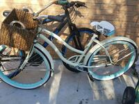 white and brown beach cruiser bicycle
